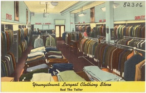 Youngstown largest clothing store, Bud The Tailor