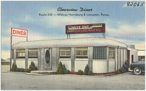 Clearview Diner, Route 230 -- Midway Harrisburg & Lancaster, Penna.