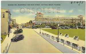 Seaside Inn, Boardwalk, and Main Street, Daytona Beach, Florida