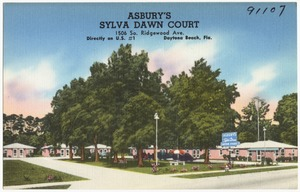 Asbury's Sylva Dawn Court, 1506 South Ridgewood Avenue, directly on U.S. 1, Daytona Beach, Florida