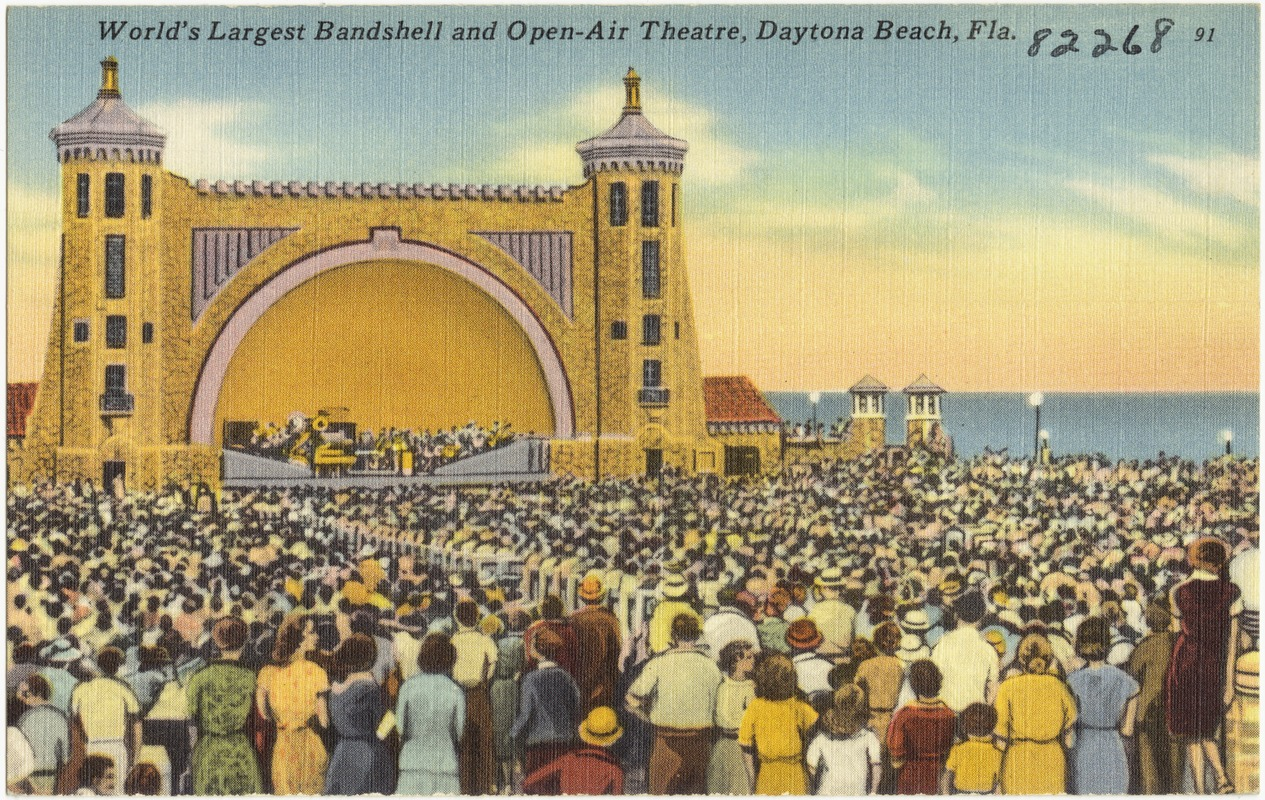 World S Largest Bandshell And Open Air Theatre Daytona Beach Florida