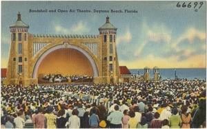 Bandshell and open-air theatre, Daytona Beach, Florida