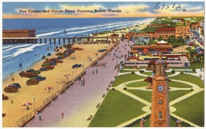 Pier Casino and ocean front, Daytona Beach, Florida