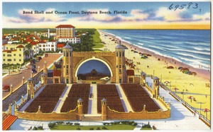 Band shell and ocean front, Daytona Beach, Florida