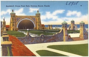 Band shell, ocean front park, Daytona Beach, Florida