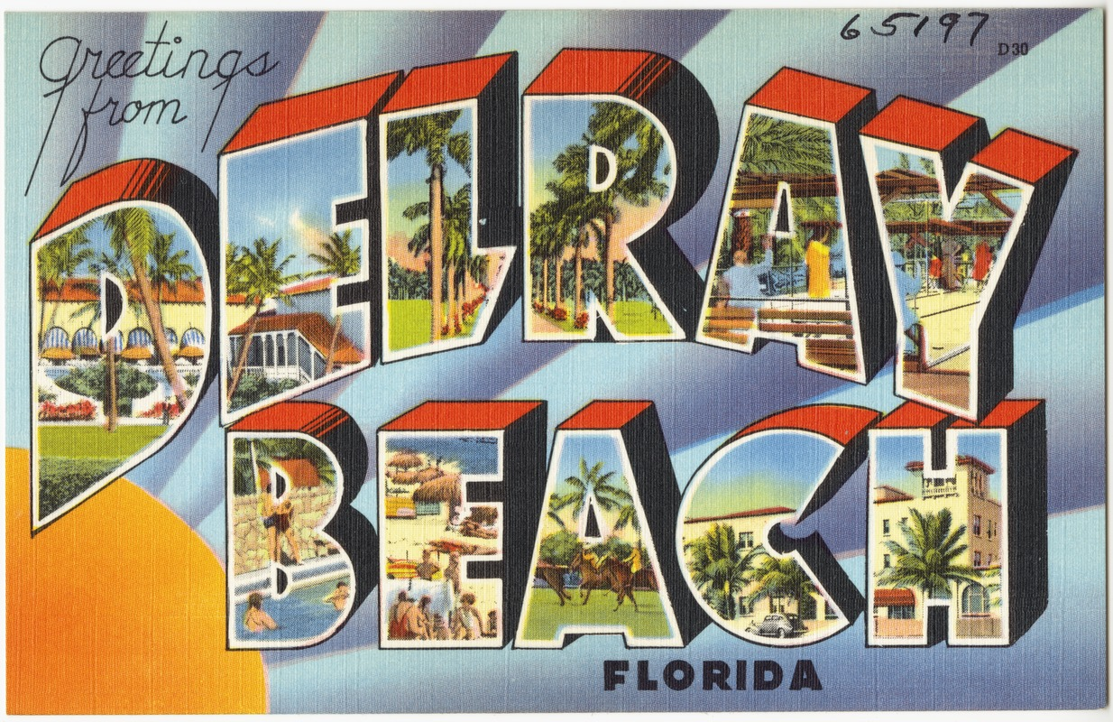 Greetings from delray beach florida digital commonwealth greetings from delray beach florida kristyandbryce Image collections