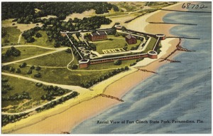 Aerial view of Fort Clinch State Park, Fernandina, Florida