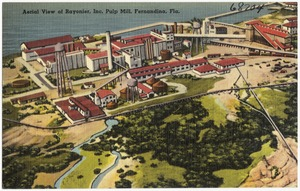 Aerial view of Rayonier, Inc. Pulp Mill, Fernandina