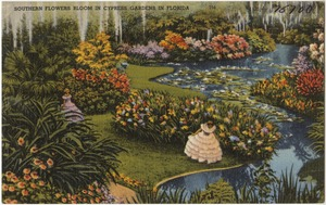 Southern flowers bloom in Cypress Gardens in Florida