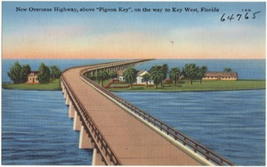 """New overseas highway, above """"Pigeon Key,"""" on the way to Key West, Florida"""
