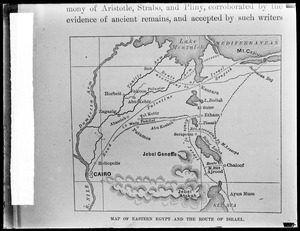 Map of eastern Egypt and route of Israel (Masonic)