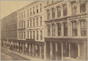 Boston Massachusetts. High Street in 1870 looking north from Summer St.
