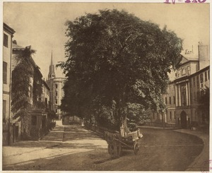 Franklin Street, archway to Summer Street on the right. 1855