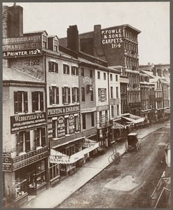 Boston, Massachusetts. Washington Street, east side, between Milk and Franklin Streets, before 1872
