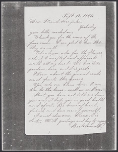 Sacco-Vanzetti Case Records, 1920-1928. Correspondence. Bartolomeo Vanzetti to Cerise Jack (photocopies only), 1924-1926. Box 41, Folder 67, Harvard Law School Library, Historical & Special Collections