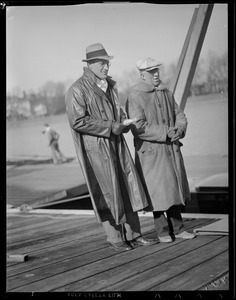 Two men on dock