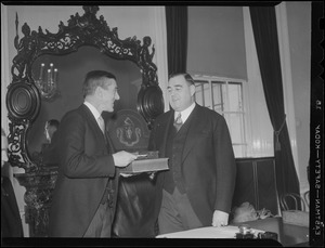 Event at State House with Governor Saltonstall, probably inaugural