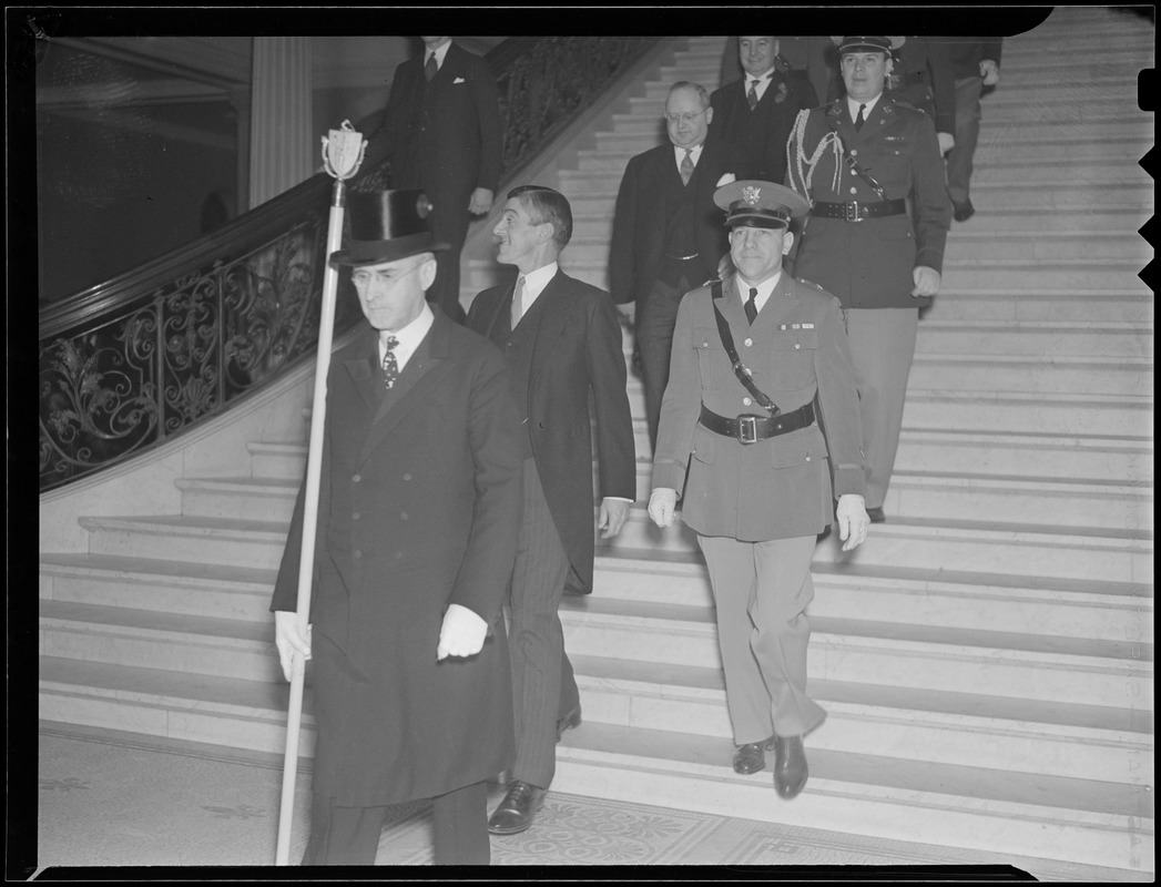 Event at State House with Gov. Saltonstall, probably his inaugural