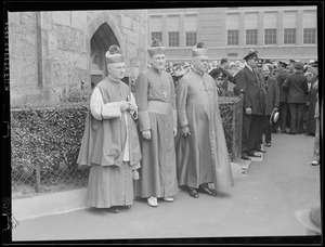 Bishop Cushing at his consecration ceremony at the Cathedral of the Holy Cross