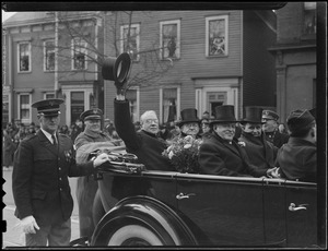 Mayor Mansfield in South Boston's Evacuation Day parade