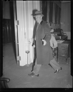 Gov. Saltonstall in a hurry