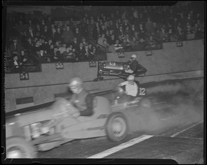 Midget auto racing at Boston Garden