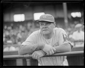 Babe Ruth in Dodgers uniform