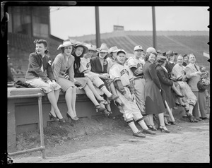 Bees players with their wives at Braves Field