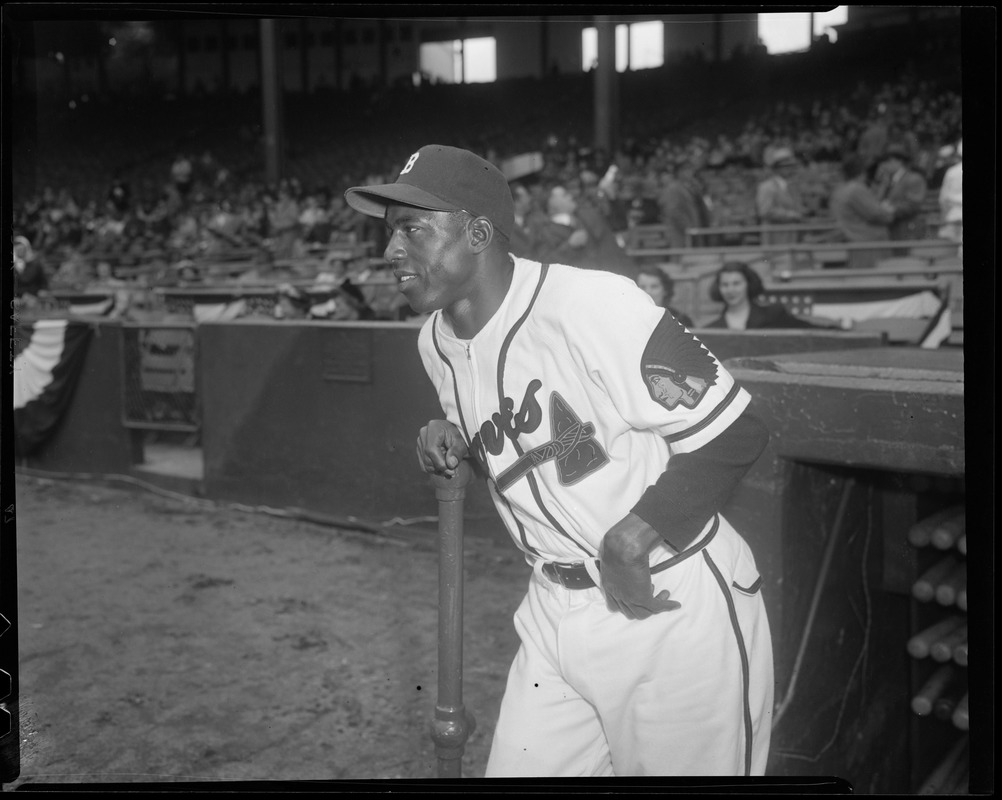 Sam Jethroe Of The Boston Braves