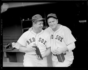 Jimmie Foxx and teammate with Red Sox