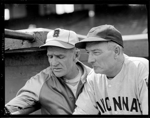 Casey Stengel of the Bees with Cincinnati manager