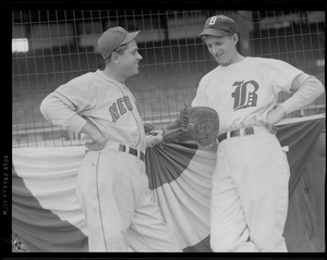 2 baseball players - N.Y. & Boston