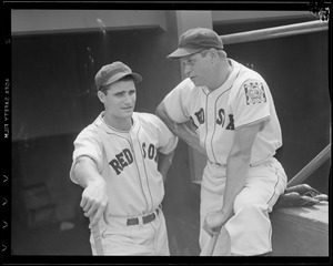 Bobby Doerr and Jimmy Foxx of the Sox