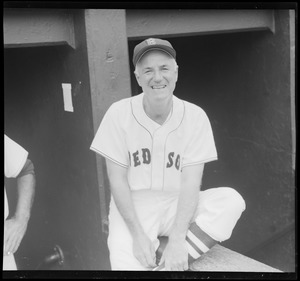 Billy Jurges of the Red Sox showing his winning smile after beating N.Y. Yankees - 5 games - July 9 - 14 to 3, July 10 - 8 to 5, July 11 - 8 to 4, July 12 - 7 to 3, July 13 - 13 to 3