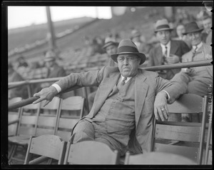 Man in stands