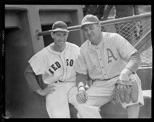 Ted Williams and Athletics player