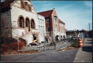 Exterior demolition photograph, building to be determined