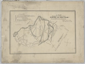 A plan showing the proposed line between Newton and Waltham