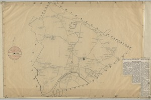 Map of the Towne of Waltham Middlesex Co.