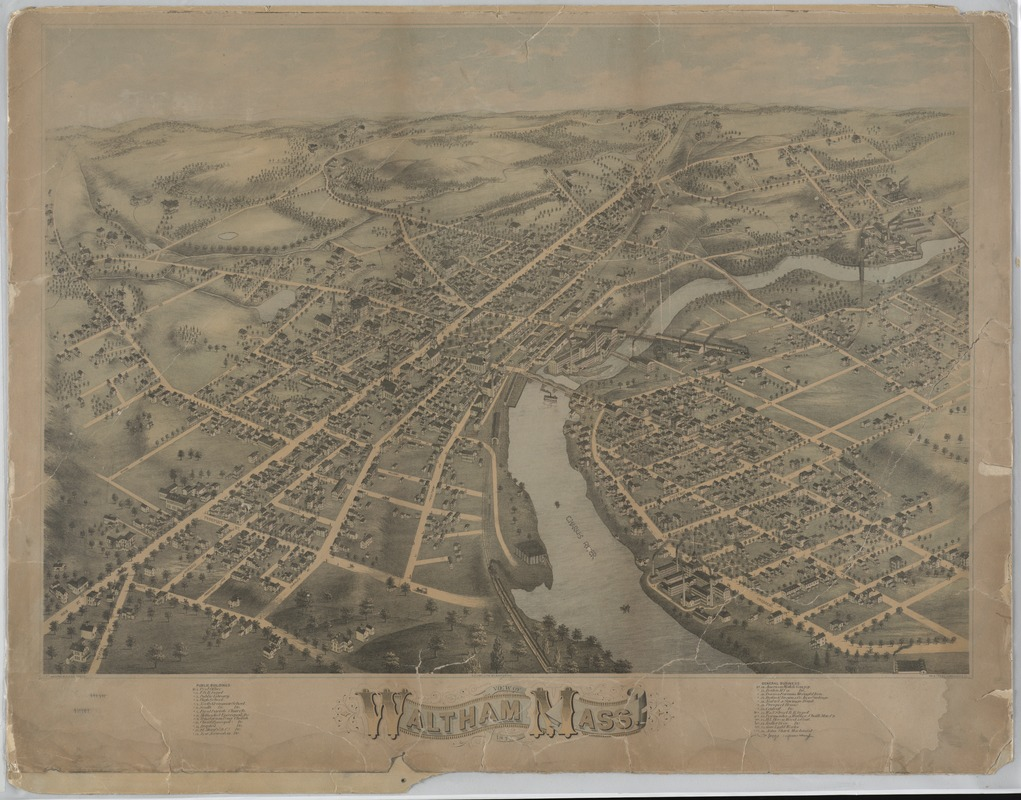 View of Waltham, Mass. 1873