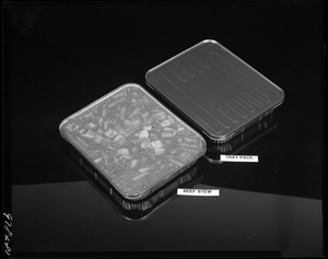 Beef stew, tray pack