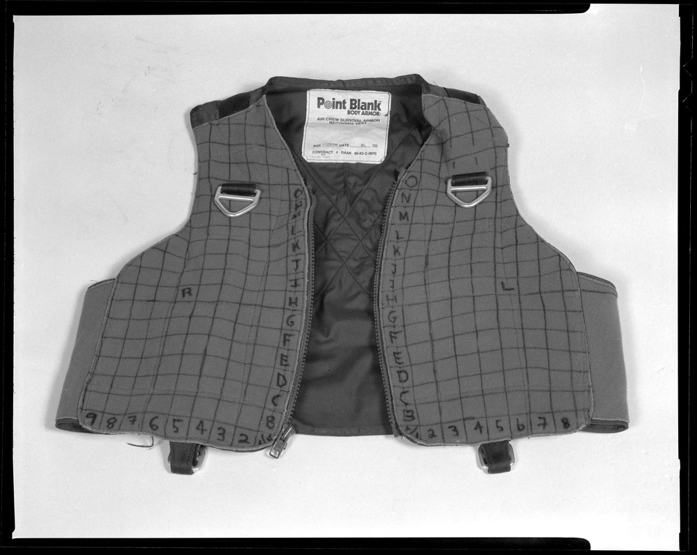 Point blank body armor, air crew survival armor recovery vest