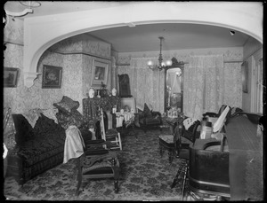 Aunt Leena's parlor, group both views