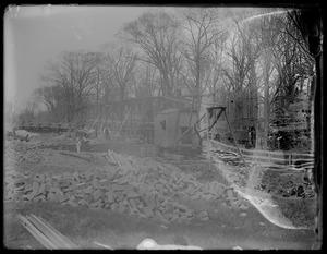 Commonwealth Ave. sewer and gravel train