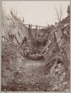 Men digging a trench