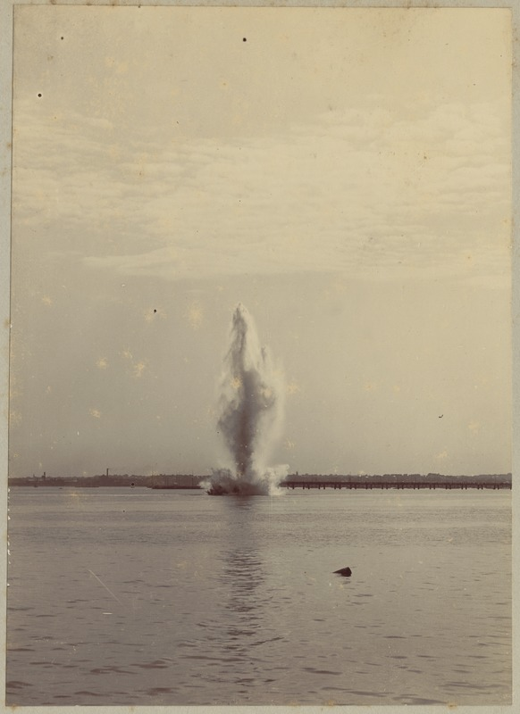 Explosion in water