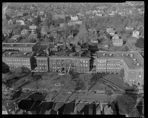 Aerial view of building