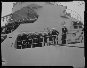 View of the crew onboard the U.S.S. ATKA