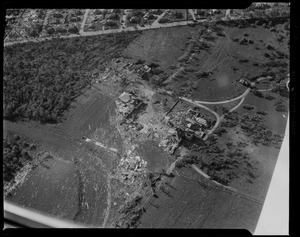 Aerial view of destruction