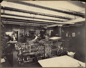 Boston Public Library, 42 Stanhope St. Printing Department